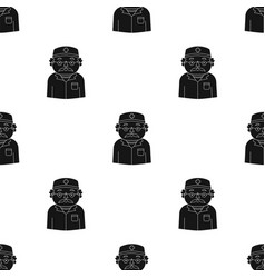 Doctor icon in black style isolated on white vector