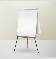 Flip chart isolated blank sheet of paper vector