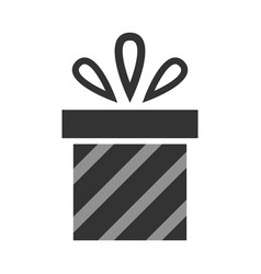 Gift christmas symbol black flat icon vector