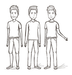 Hand drawn people design vector