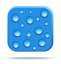 Icon of waterproof fabric vector
