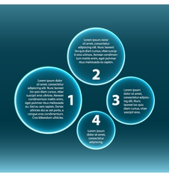 Infographic four circles vector