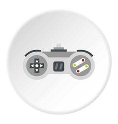 Joystick icon circle vector