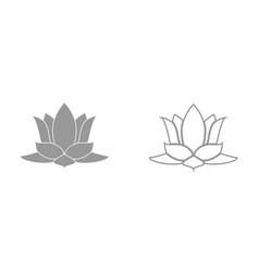 lotus flower it is black icon vector image vector image
