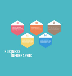 Step concept for business infographic vector