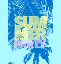 Summer party typographic poster design vector