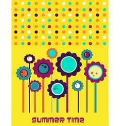 summer time flower card vector image