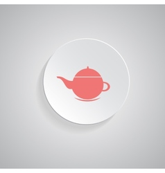 teapot icon coffee pot symbol vector image vector image