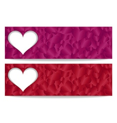 Valentine gift certificate with paper heart and vector