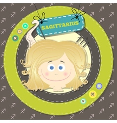 Zodiac signs collection horoscope - sagittarius vector