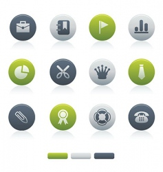 04 mixed circle office icons vector image vector image