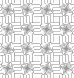 Slim gray hatched four foil grid vector