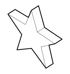 Five pointed star icon outline style vector