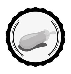 Eggplant vegetable icon vector