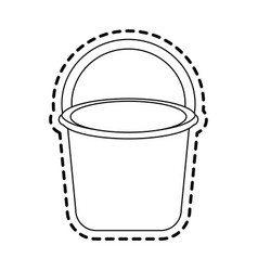 Bucket with handle icon image vector