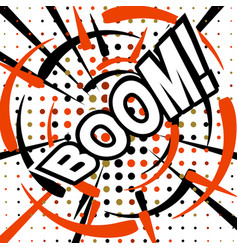 Boom wording sound effect set design for comic vector