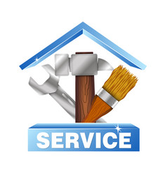 Service house symbol for business vector