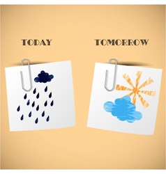 Home weather forecast for stickers vector