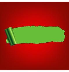 Green Paper Torn vector image
