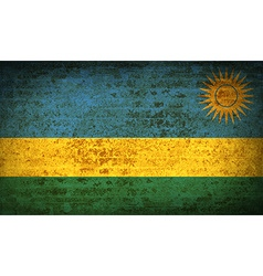 Flags rwanda with dirty paper texture vector