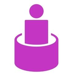 Patient isolation icon vector