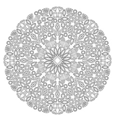 Decor floral gem mandala vector image