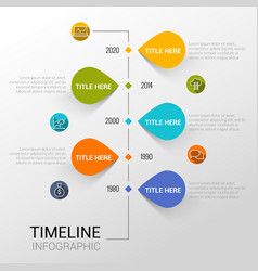 Infographic template with time line report points vector