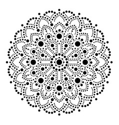 Aboriginal dot painting mandala australian vector