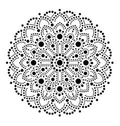 aboriginal dot painting mandala australian vector image