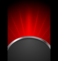 Abstract dark red tech background vector image vector image