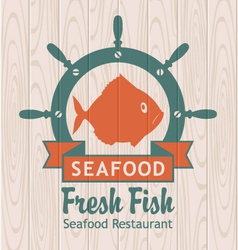 banner for seafood vector image vector image