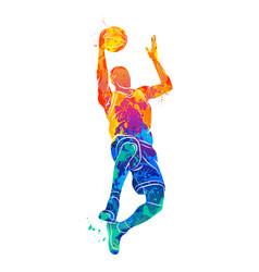 basketball player ball vector image vector image