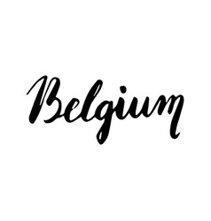 Belgium hand lettering isolated on white vector