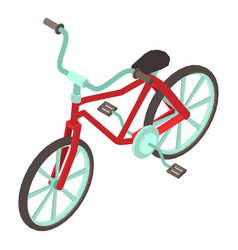 Bicycle icon isometric style vector