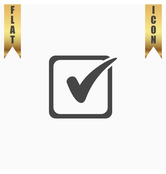 Check list button mark in box sign vector image vector image