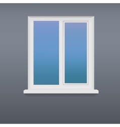 Closed white plastic window vector image vector image