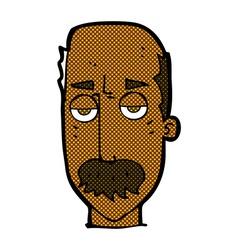 Comic cartoon bored old man vector