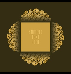 Creative antique royal design for product or banne vector
