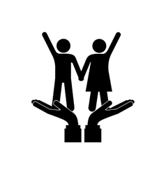 Cute couple relationship vector