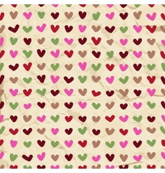 Cute hearts seamless pattern vector image vector image