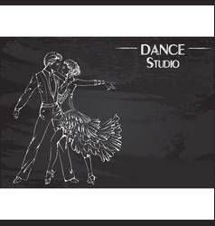 dance line chalk ballroom dancing latina vector image vector image