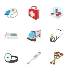 Diagnosis icons set cartoon style vector image vector image