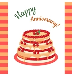 Happy anniversary cherry pie multi level vector