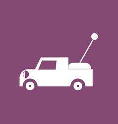 Icon on background kids truck vector