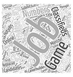 Job search is it a numbers game word cloud concept vector