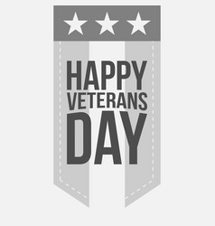 Label template with happy veterans day text vector