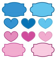 Labels and Hearts vector image vector image