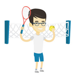 Male tennis player vector