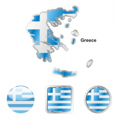 Map of Greece vector image vector image