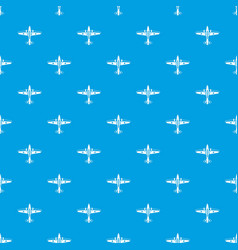 Military aircraft pattern seamless blue vector